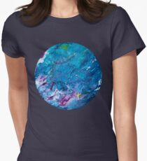 Poured Paint Women's Fitted T-Shirt