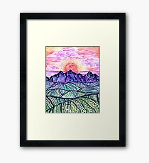 Sunset Fantasy  Framed Print