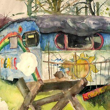 A Caravan At Faslane Peace Camp by progmike