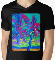 Hawaii Pink Palms  Men's V-Neck T-Shirt