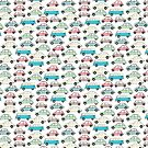 Vintage Cars Pattern by Cathryn Worrell