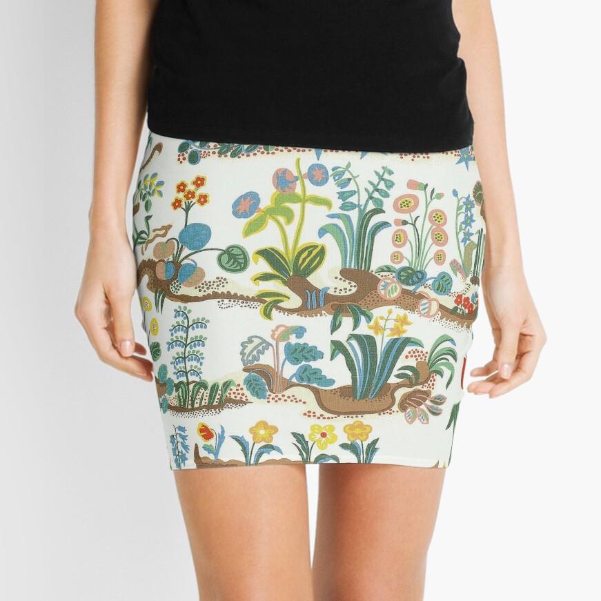 Floral, Flower Spring Collage Mini Skirt