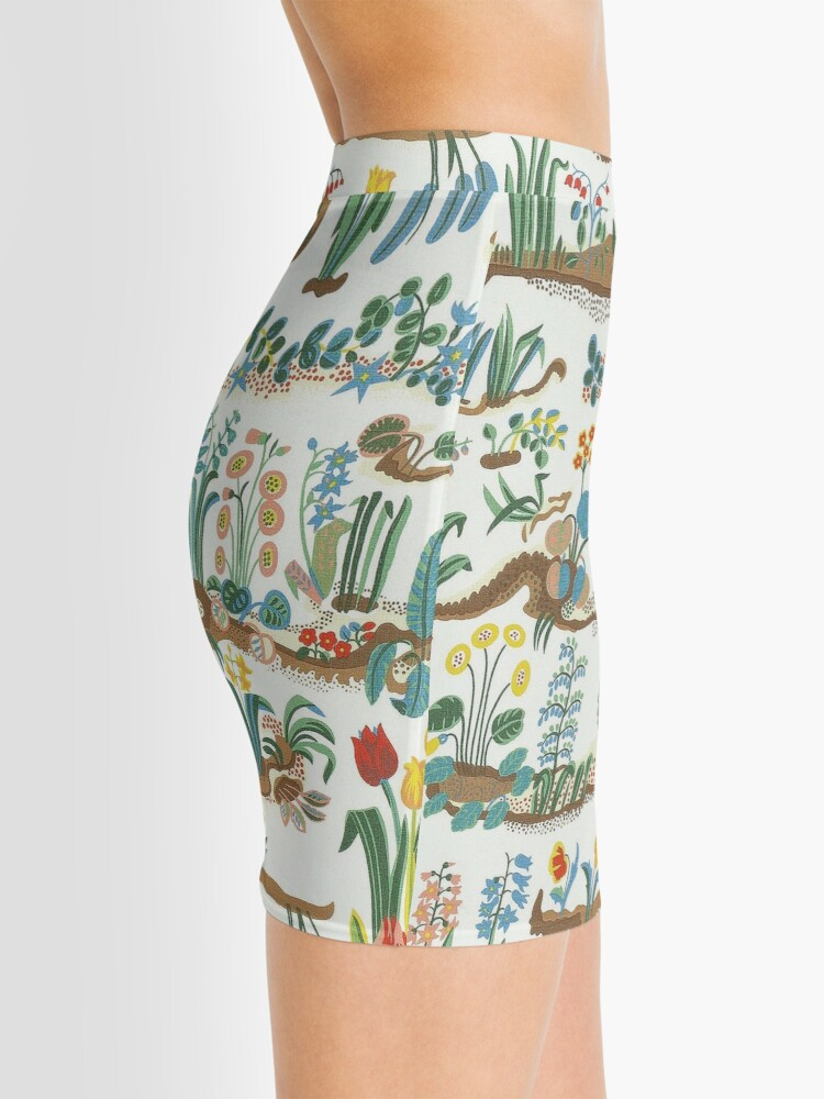 Alternate view of Floral, Flower Spring Collage Mini Skirt
