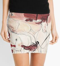 Children Playing Horses Chicken Composition Painting Mini Skirt