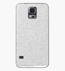 The Office pilot episode script (us) Case/Skin for Samsung Galaxy