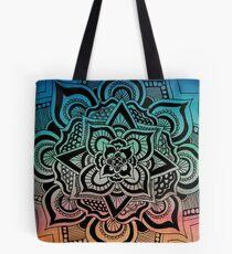 Mandala on Watercolor Tote Bag