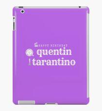Quentin Tarantino Birthday iPad Case/Skin