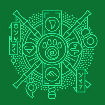 Monk – Class Crest (color) by dcmjs