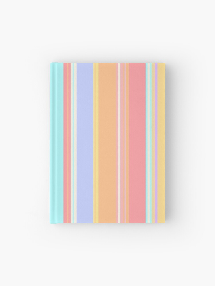Pastel Rainbow Colorful Stripes Pattern Hardcover Journal