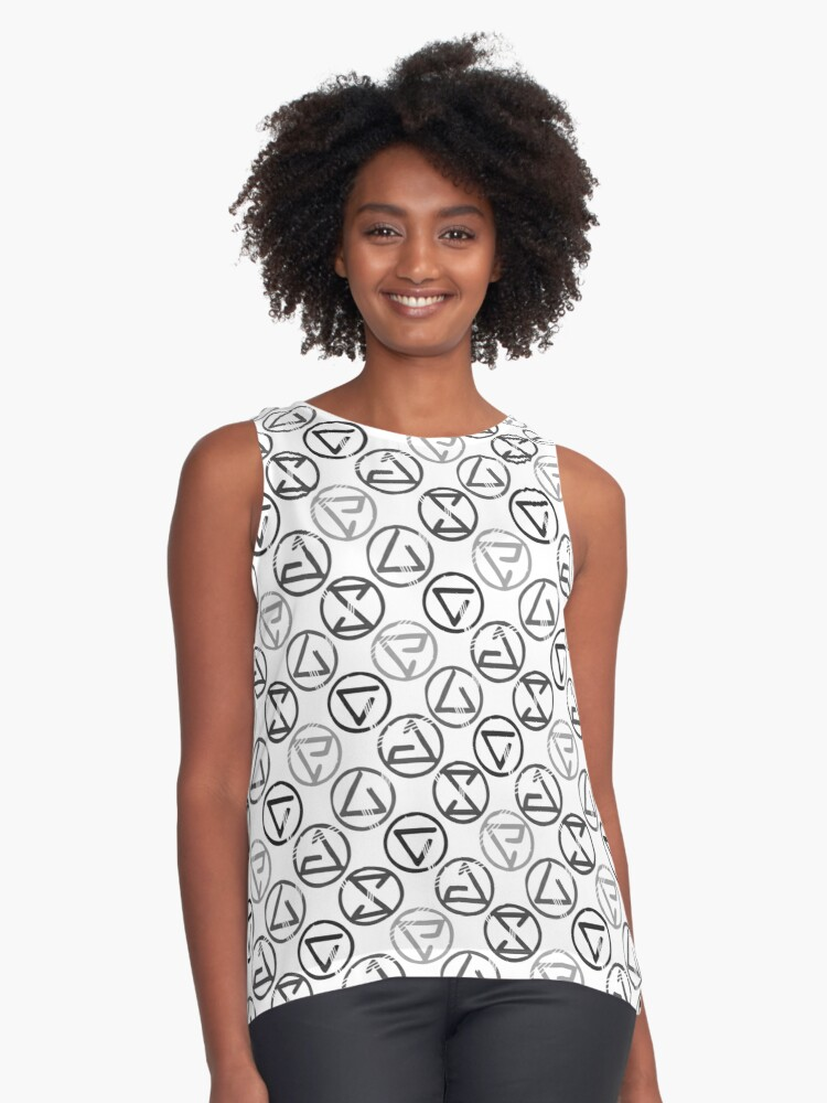 Signs - Black on White Contrast Tank Front
