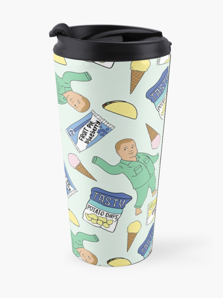 Alternate view of Bobby Hill Snacks Pattern - King of the Hill Pattern Travel Mug