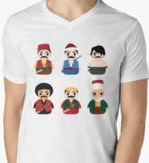 Ottoman Characters Men's V-Neck T-Shirt