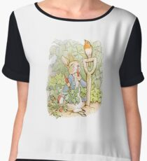 PETER RABBIT, Nursery Characters, Peter Rabbit, eating radishes, The Tale of Peter Rabbit Chiffon Top