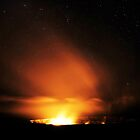 Glowing Volcanic Gasses and Stars by Ran Richards