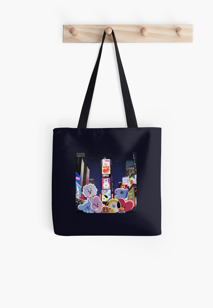 Bt21   Night In New York Tote Bag by Peach Gukv