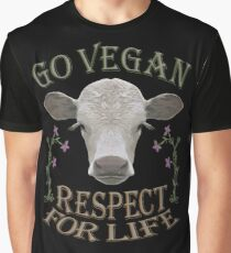 GO VEGAN - RESPECT FOR LIFE Graphic T-Shirt