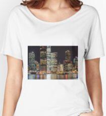 Brisbane city skyline after dark. Queensland. Australia. Women's Relaxed Fit T-Shirt