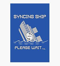 Syncing Ship Photographic Print