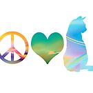 Peace, Love & Cats 2 by HeartZenMinds