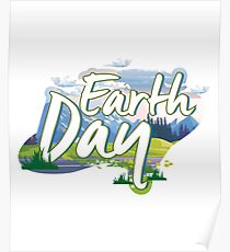 Earth Day Natural Elements Environmental Poster
