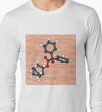 3-Quinuclidinyl benzilate (QNB), 1-azabicyclo[2.2.2]octan-3-yl hydroxy(diphenyl)acetate, EA-2277,  BZ, Substance 78, odorless military incapacitating agent Long Sleeve T-Shirt