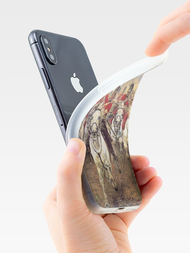 Alternate view of Scotland Forever! 1881, Battle of Waterloo, Lady Butler, Charge of the Royal Scots Greys. iPhone Case & Cover