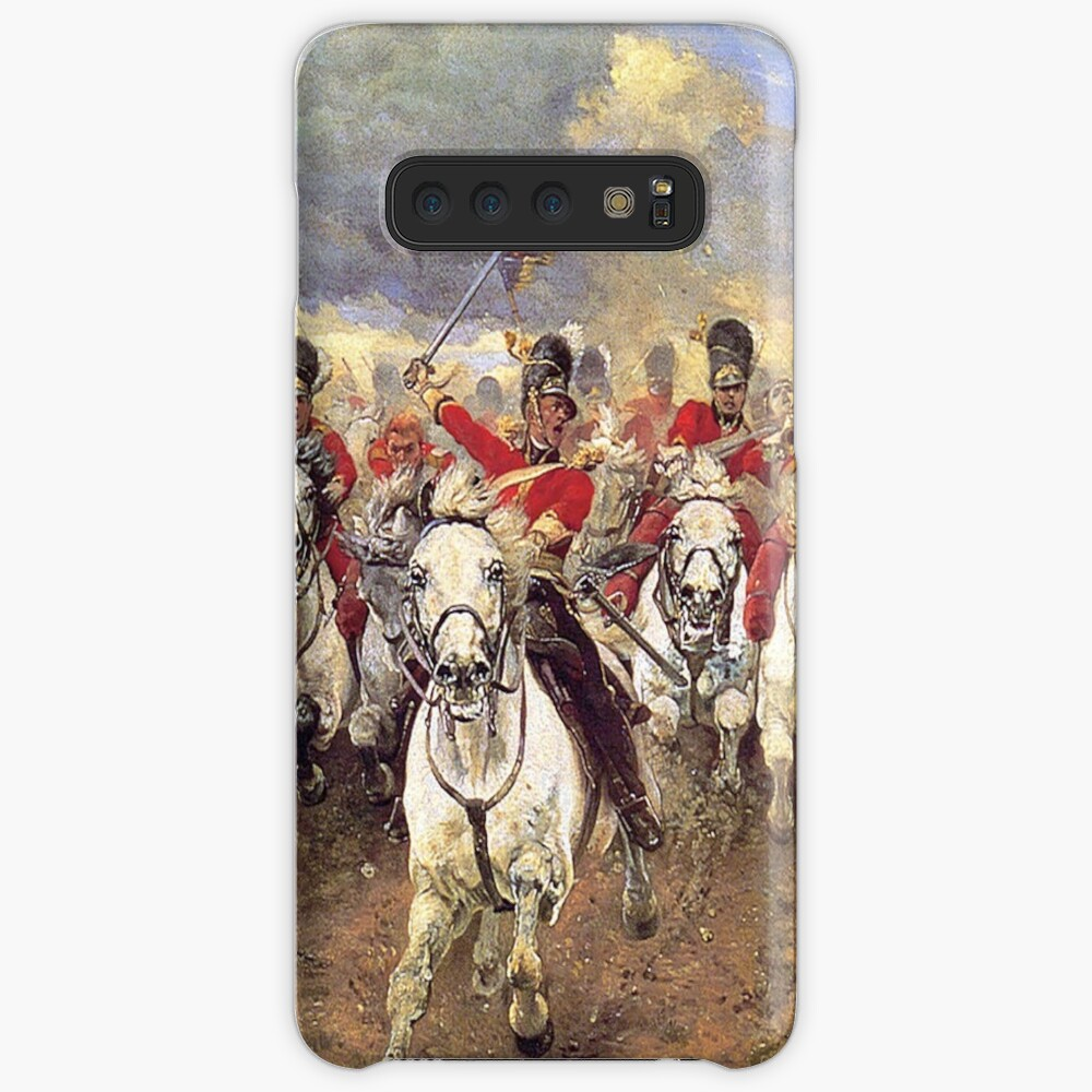 Scotland Forever! 1881, Battle of Waterloo, Lady Butler, Charge of the Royal Scots Greys. Case & Skin for Samsung Galaxy