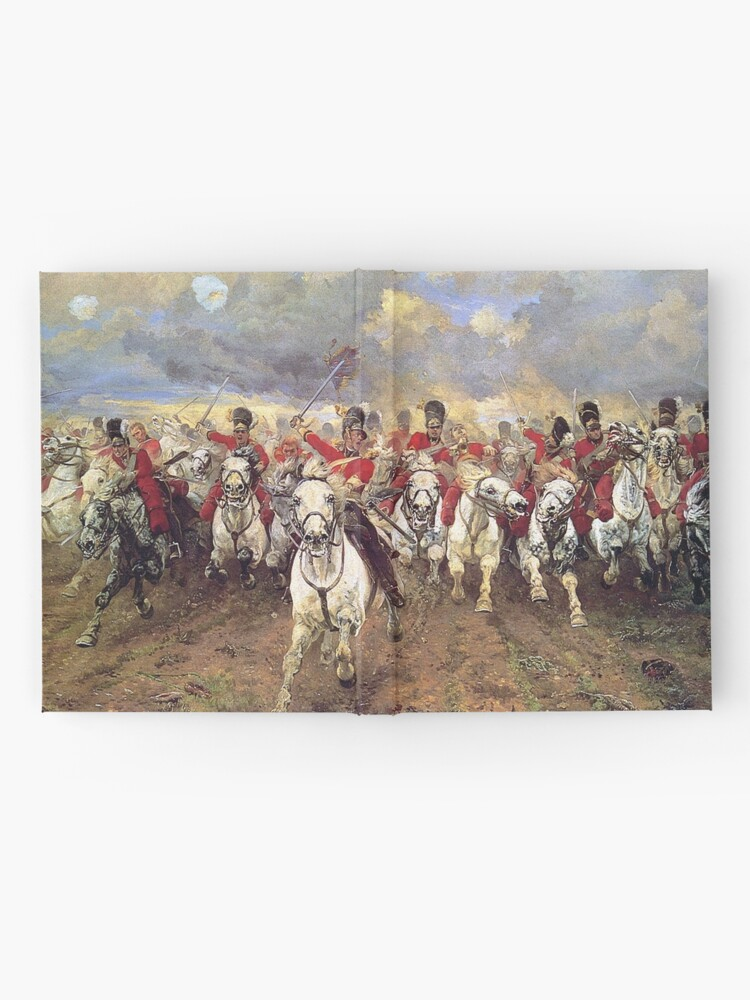Alternate view of Scotland Forever! 1881, Battle of Waterloo, Lady Butler, Charge of the Royal Scots Greys. Hardcover Journal
