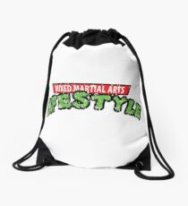 MMA with TMNT ARTWORK Drawstring Bag