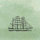 Bark Ship by David Dehner