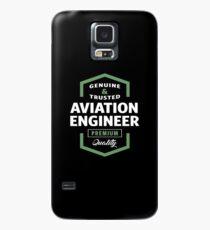 Aviation Engineer Logo Geschenkideen Hülle & Klebefolie für Samsung Galaxy