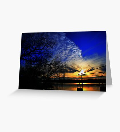 Another Day Ends Greeting Card