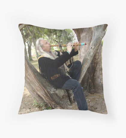 Billy White Fox Throw Pillow