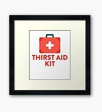 Thirst Aid Kit For Medicine Schools Framed Print