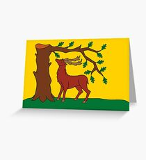Berkshire County Flag, England Greeting Card