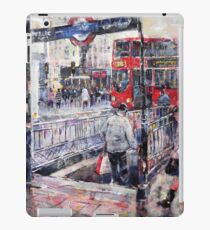 London Art - Underground Subway & Red Bus iPad Case/Skin
