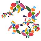Leaves and Petals in Rainbow by Airen Hall
