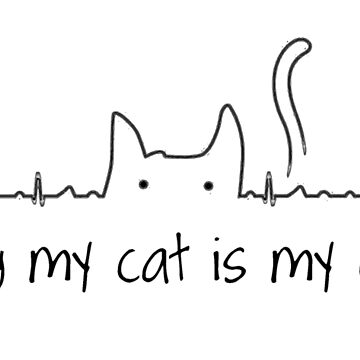 Petting my Cat is my Cardio by HeartZenMinds