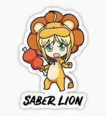 Saber Lion Sticker