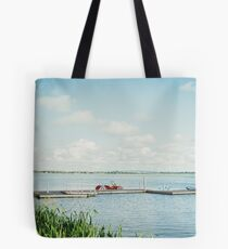 Tranquil Lake Scenery Tote Bag