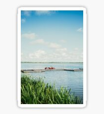 Tranquil Lake Scenery Sticker