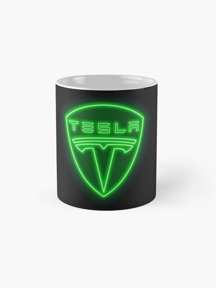 Alternate view of Tesla Neon Sign Mugs