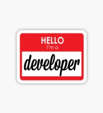 I'm a developer Sticker
