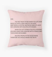 pink letter to sam Floor Pillow