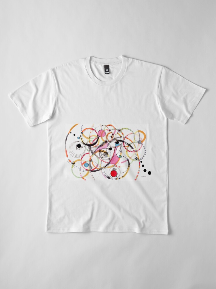 Alternate view of Spheres of Influence - ink on paper Premium T-Shirt