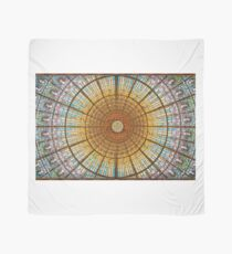 Stained glass skylight in Palace of Catalan Music  Scarf