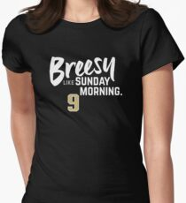 Breesy Like Sunday Morning Women's Fitted T-Shirt