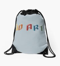 3D art Drawstring Bag