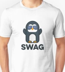 Swag Penguin Great For Hipster Teens Unisex T-Shirt