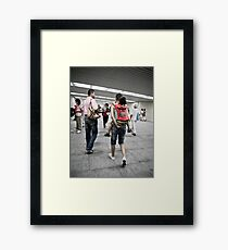 Going to Tiananmen Square Framed Print